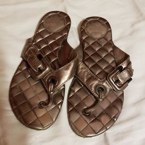 Burberry dark silver sandals